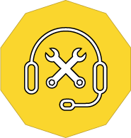 Information Technology Support icon with Smartwire's yellow background